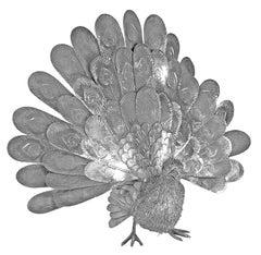 Buccellati Silver Furry Animals Peacock