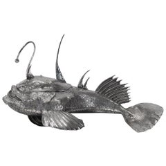 Buccellati Silver Sea Angler Fish Centerpiece
