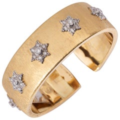 Buccellati Star Cuff with Diamonds in Gold