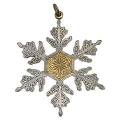 Buccellati Sterling Silver Christmas Ornament 1995 Snowflake Motif