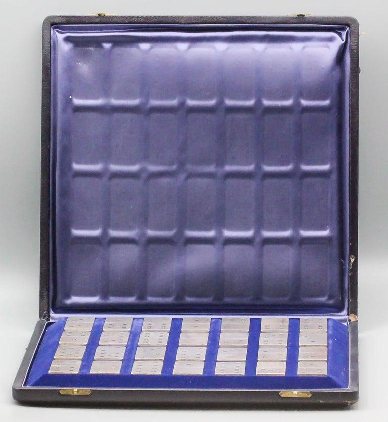 Women's or Men's Buccellati Sterling Silver Dominoes Set For Sale