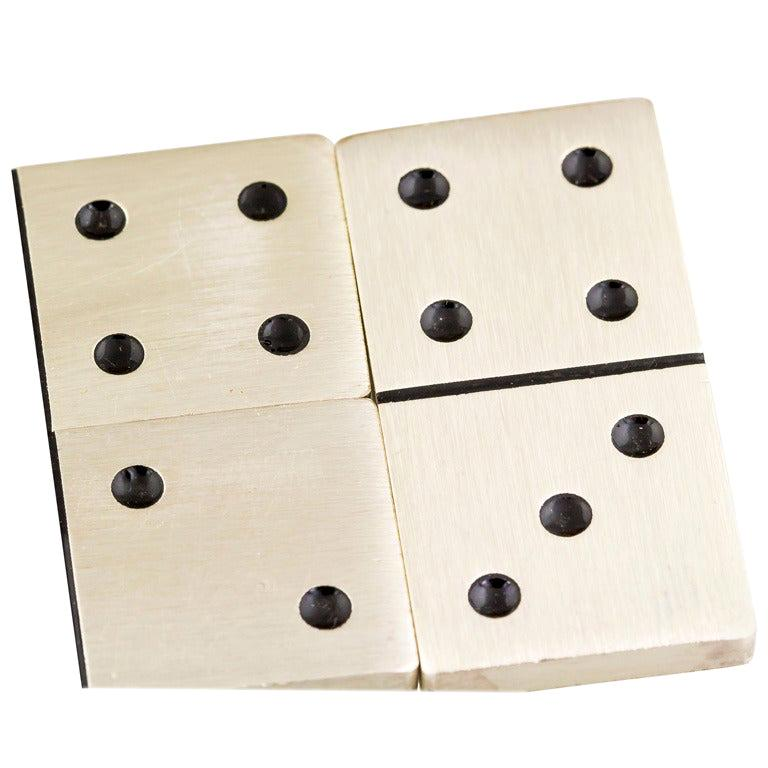 Buccellati Sterling Silver Dominoes Set For Sale