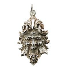 Buccellati Sterling Silver Maschera Ligorica Pendant