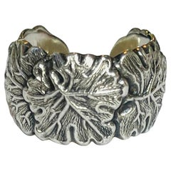 Buccellati Sterling Silver Oak Leaf Ring sz 7