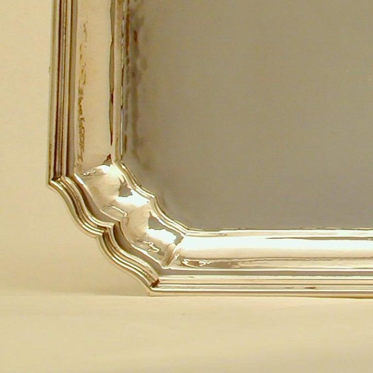 Italian Buccellati Sterling Silver Villa Palladio Tray For Sale