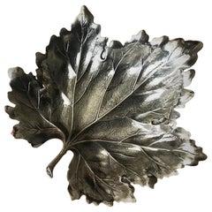 "Buccellati Sterling Silver ""Vine Leaf"" Bowl Medium"