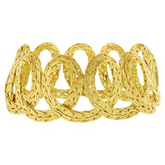 Buccellati Textured Gold Spiral Bracelet
