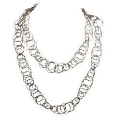 Buccellati White Gold Hawaii Necklace
