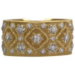 Buccellati Wide Full Diamond Bracelet 18 Karat 5-6 Carat