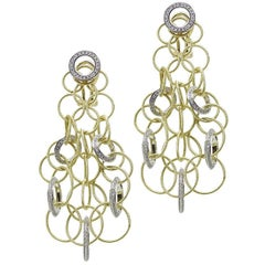 Buccellati Yellow Gold and Diamond Hawaii Collection Earrings