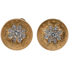 Buccellatti Button Yellow Gold Earrings