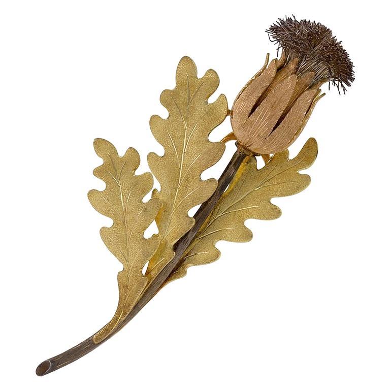 "Buccellati ""Thistle Flower"" Brooch"