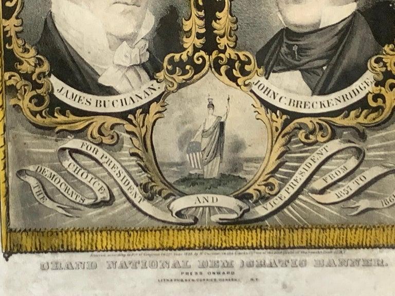 Buchanan & Breckenridge, 1856 Grand National Democratic Banner, by N. Currier 3
