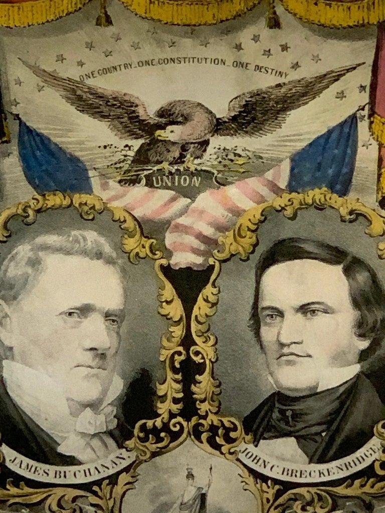 Paper Buchanan & Breckenridge, 1856 Grand National Democratic Banner, by N. Currier