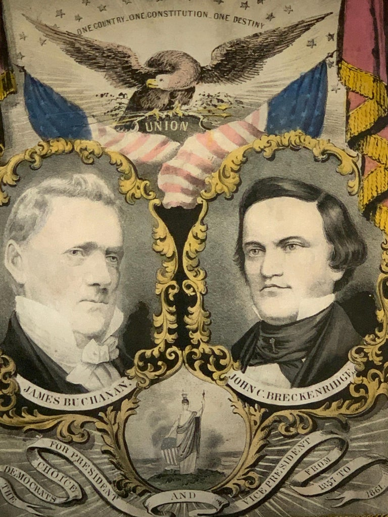 Buchanan & Breckenridge, 1856 Grand National Democratic Banner, by N. Currier 1