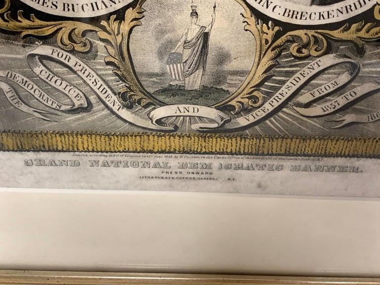 Buchanan & Breckenridge, 1856 Grand National Democratic Banner, by N. Currier 2