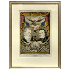 Buchanan & Breckenridge, 1856 Grand National Democratic Banner, by N. Currier