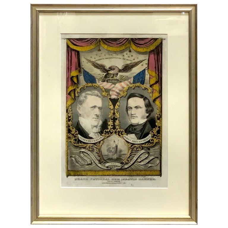 Buchanan & Breckenridge, 1856 Grand National Democratic Banner, by N. Currier