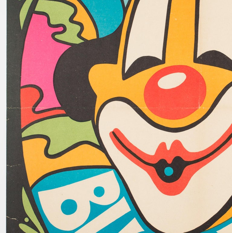 Bucharest Clown 1974 Hungarian Circus Poster For Sale 1