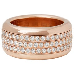 Bucherer 18 Karat Rose Gold Diamond Rotating Variato Ring