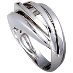Bucherer 18 Karat White Gold Split Band Ring