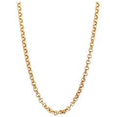 Bucherer 18 Karat Rose Gold Belcher Chain Long Necklace