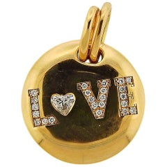 Bucherer Diamond Gold Love Pendant
