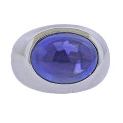 Bucherer Gold 16.15ct Ceylon Sapphire Ring