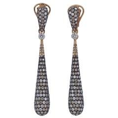 Bucherer Gold 5.00ctw Fancy Diamond Drop Earrings