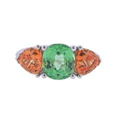 Bucherer Gold Grossularite Garnet Ring