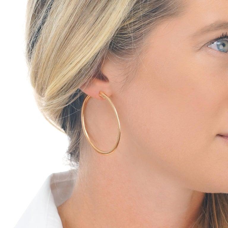 Women's Bucherer Gold Hoop Earrings For Sale