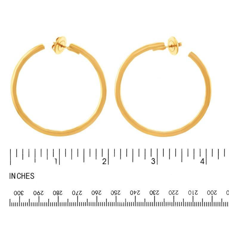 Bucherer Gold Hoop Earrings For Sale 2