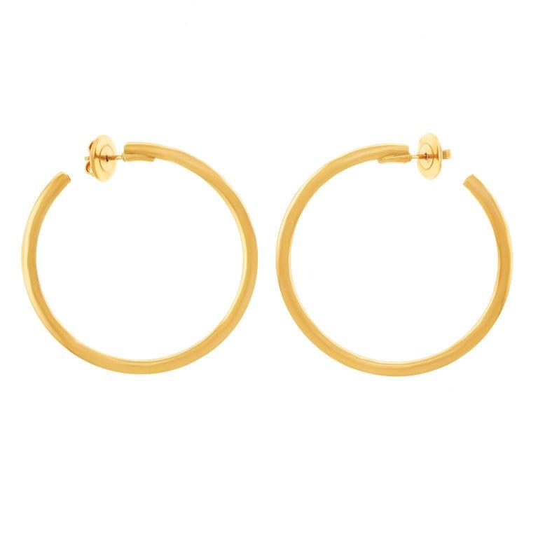 Bucherer Gold Hoop Earrings For Sale
