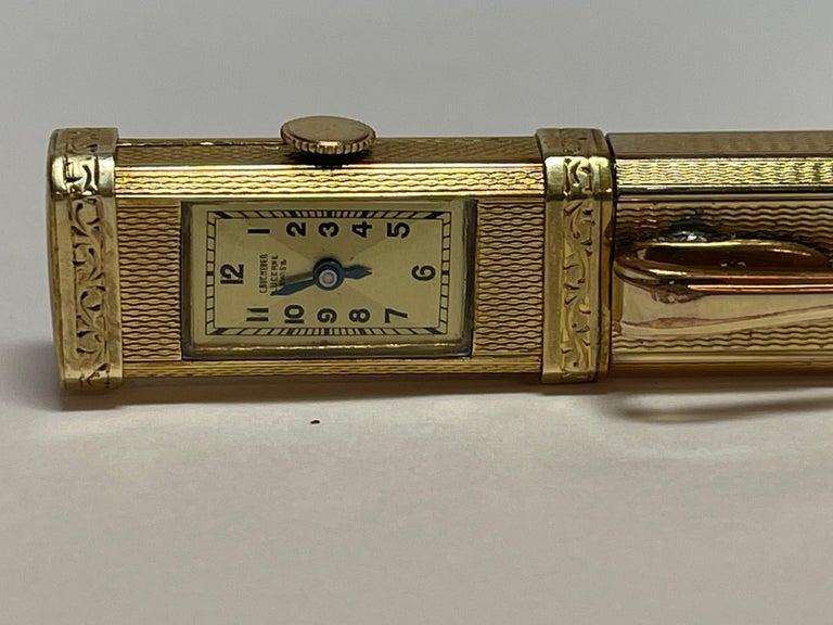 Gold Plate Bucherer Mechanical Pencil Watch For Sale