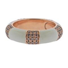 Bucherer Rose Gold Fancy Diamond Enamel Band Ring