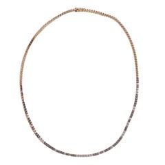 Bucherer Rose Gold Fancy Diamond Necklace