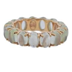 Bucherer Rose Gold Prehnite Band Ring