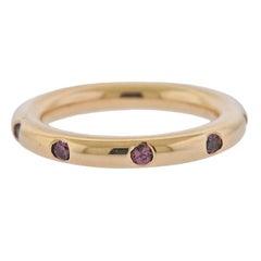 Bucherer Rose Gold Rhodolite Band Ring