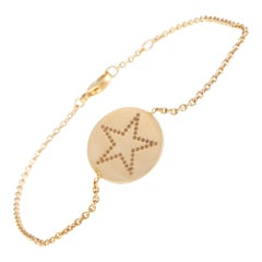 Bucherer Rose Gold Round Star Pendant Bracelet