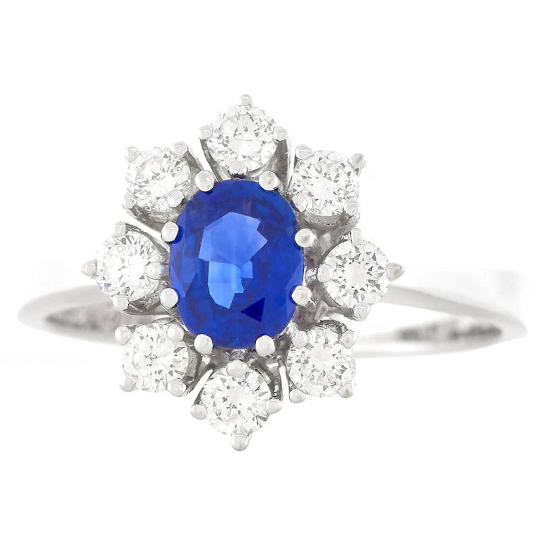 Bucherer Sapphire and Diamond Set Gold Ring