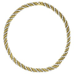 Bucherer Two-Piece Necklace and Bracelet Set in 18 Karat Yellow Gold and Pearls