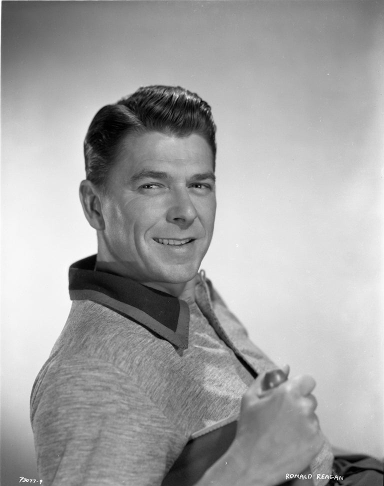Bud Fraker Ronald Reagan Smiling In Classical Portrait Fine Art