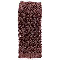 BUDD Burgundy Silk Textured Knit Tie