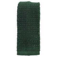 BUDD Forest Green Silk Textured Knit Tie