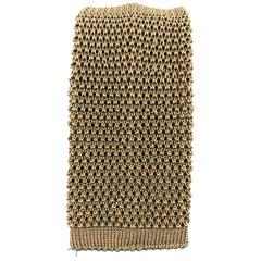 BUDD Light Taupe Silk Textured Knit Tie