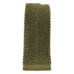 BUDD Olive Green Silk Textured Knit Tie