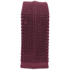 BUDD Raspberry Silk Textured Knit Tie