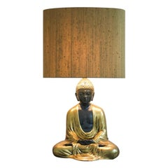 Buddha Ceramic Table Lamp from Italy, 1970s