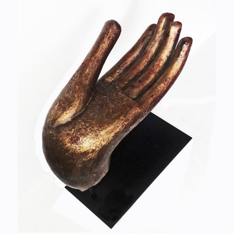 Other Gold Buddha Hand Sculptures, Late 20th Century For Sale