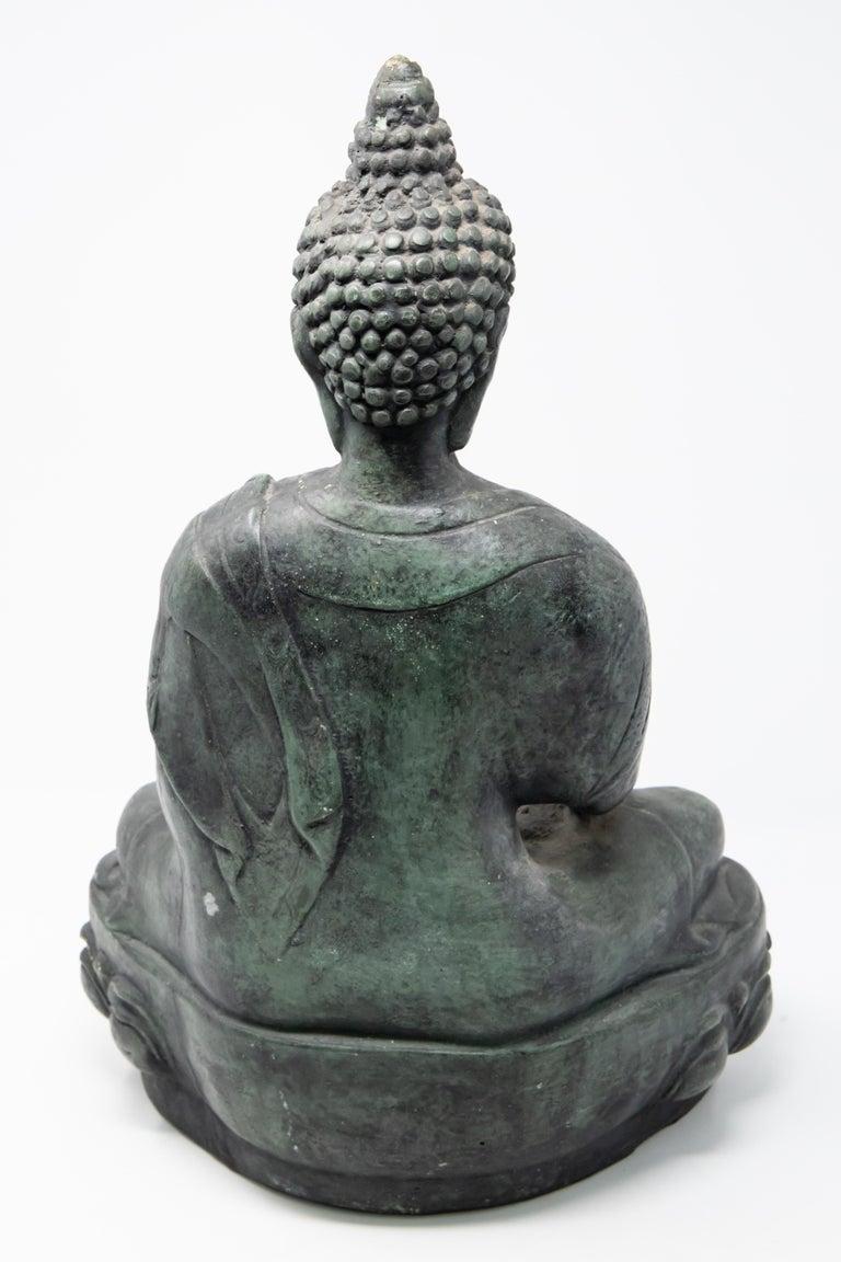 Buddha Sandstone Garden Statue, Contemporary For Sale 1